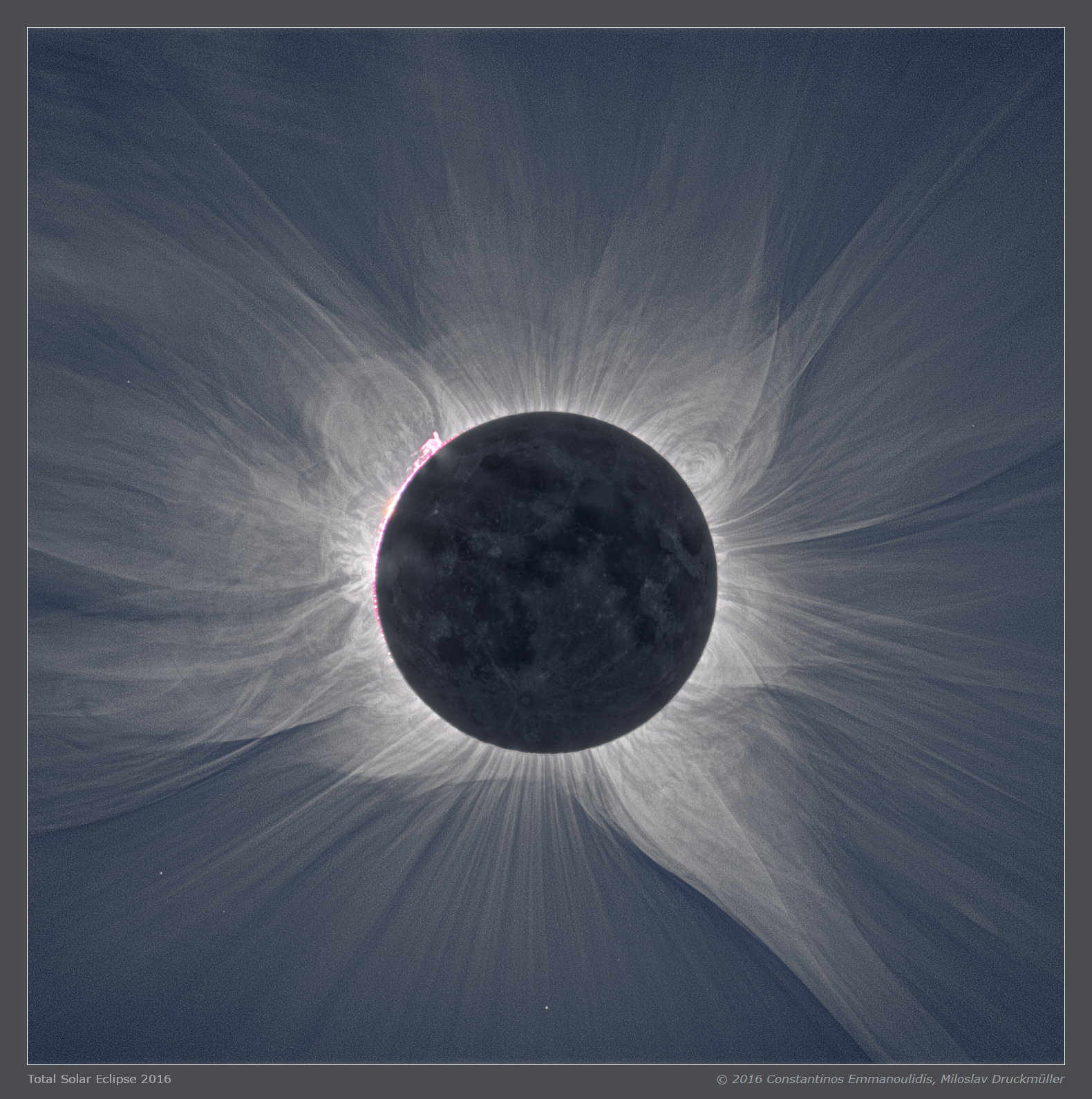 Solar Corona near the Sun's limb
